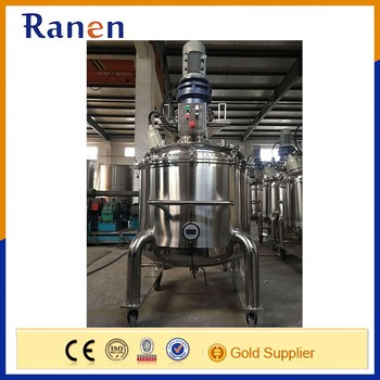 Stainless Steel Chemical Reactor With Heating Jacket And Cooling Inner Coils
