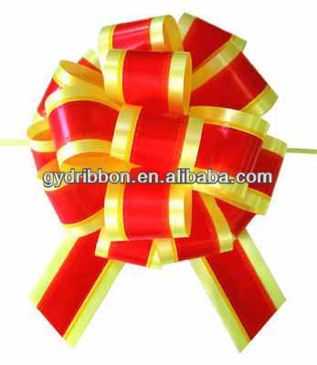 Christmas Tree Decoration with Pull Bows,Wedding Flower Decorate with Pull Bow, pp pull ribbon bow