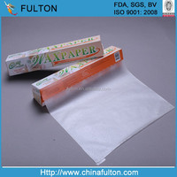 two sides coated food grade wax paper for wrapping bread vegetables meat