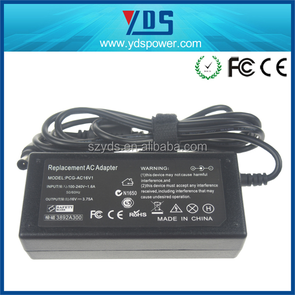 Alibaba Japan 16V 3.75A AC DC Power Adapter and Laptop Adapter