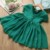 Top Leader Fashion New Baby Girls Dresses Solid Color V-neck Bow Pleated Princess Dress Girls Clothes 2-6 years old
