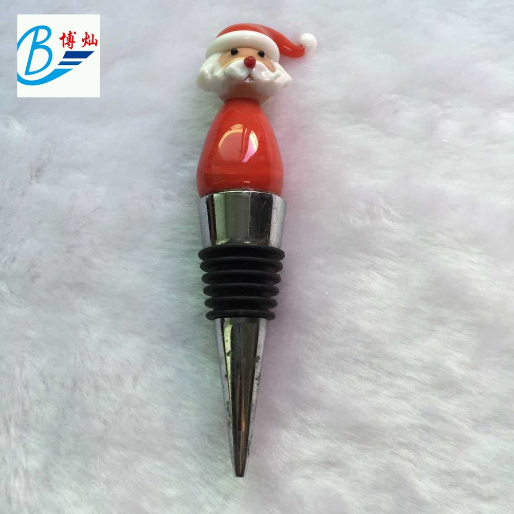 Father Christmas wine bottle stopper gift