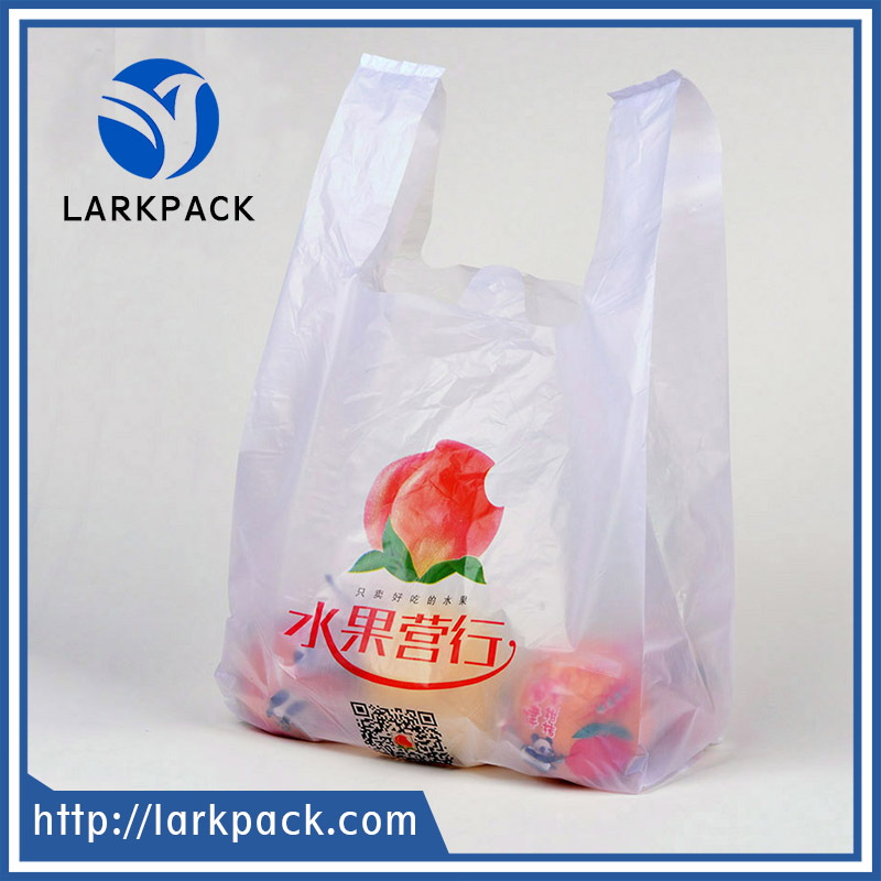 Supermarket Custom eco friendly Transparent PE LDPE HDPE Packaging T shirt Shopping Plastic Bag
