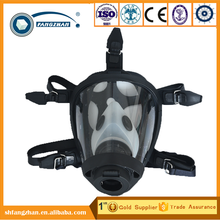 CE approved light weight portable anti smoking face mask, chemical cylindrical full face mask respirator