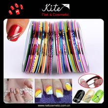 Self-adhesive plastic nail decoration nail art striping tape