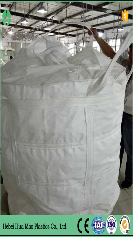 Spout Top Flat Bottom Polypropylene Anti-corrosion Bag 1 Ton Big Bag For Chemical Powder Packing With UV Resistant
