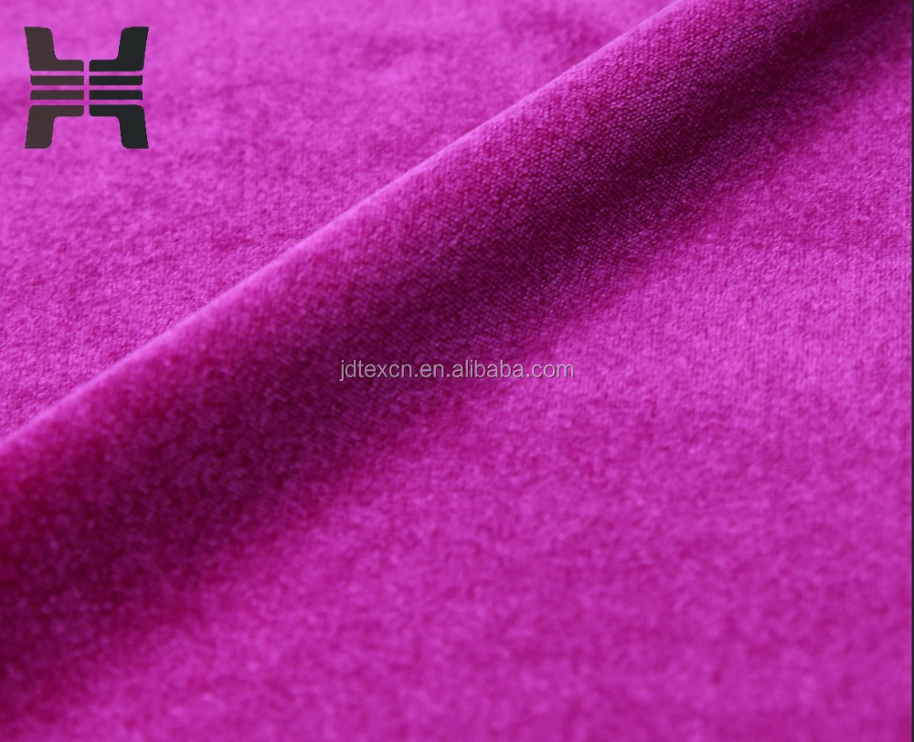 2016Custom Wholesale Brushed Warp Knit Polyester Nylon Spandex Velvet Fabric for sportswear sofa and garments