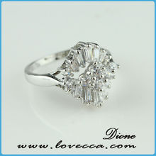 New Arrivals Korean Fashion Unique Silver Finger Ring Designs Jewelry, CZ Diamond Wedding Band Ring