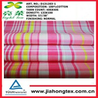 Yarn Dyed Pattern and 100% Cotton Material organic cotton fabric