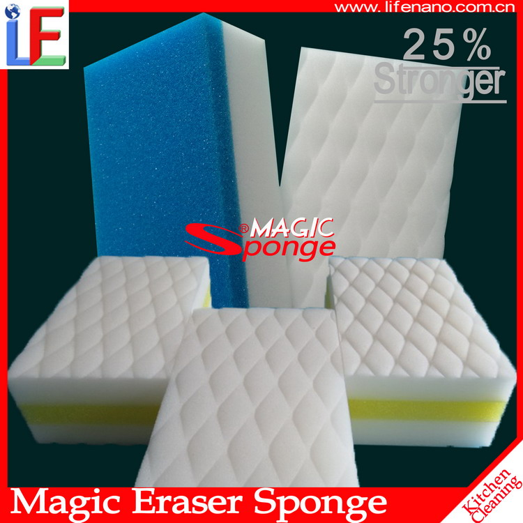 Compressed magic kitchen melamine sponge with soap wholesale