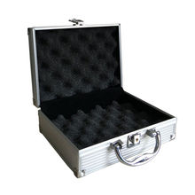 High Quality Aluminum Alloy Tactical Hard Pistol Padded Gun Case