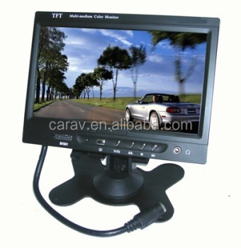 12V-24V 7 inch 800*480 Car Headrest LCD Car Monitor With CE & RoHs