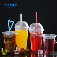 high quality disposable 20oz clear PET cold drink plastic cups with dome lid