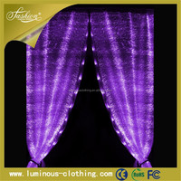 Led glow decorative lights window curtain fabric accessory wholesale