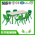 SF-09C Daycare Kids Furniture Wooden Plastic Children Table and Chairs Kindergarten Dining Table