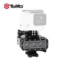 Tolifo Brand New Waterproof Video light Diving Lamp Underwater Shooting LED Light for Go Pro Camera Accessories Sport Camera