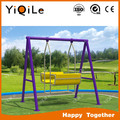 online shopping wholesale children outdoor swing Equipment Plastic Swing And Slide Set for kids