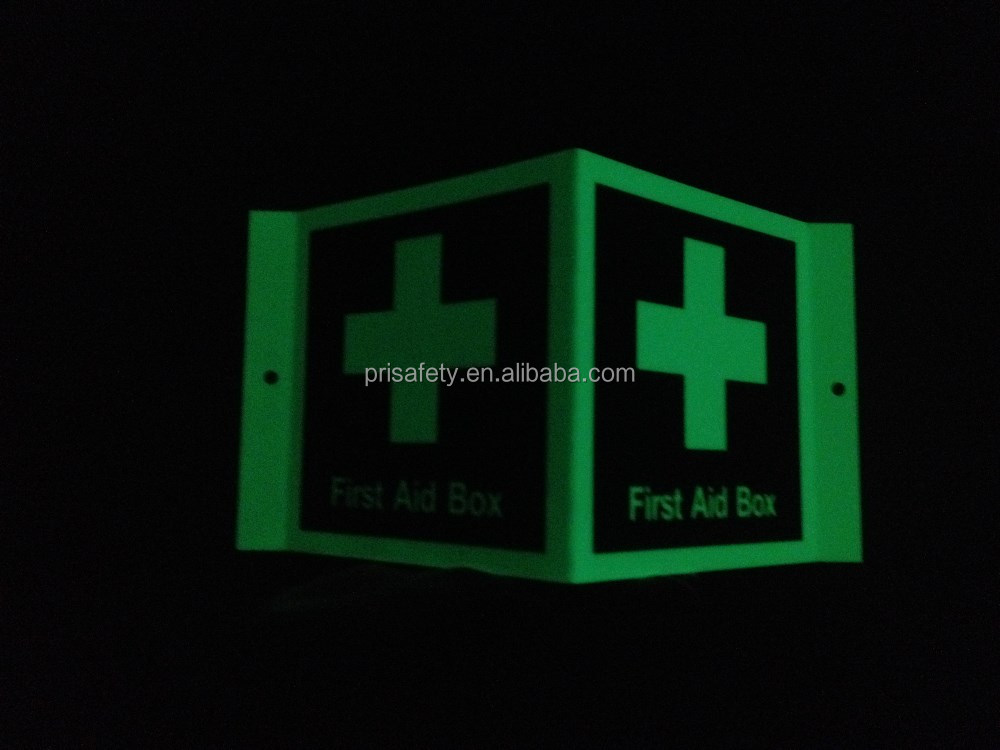 Luminous fire safety push sign for life safety