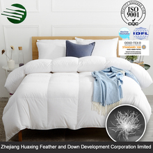 Single Needle Quilting Luxury Home Textile White Duck Down Feather Quilt