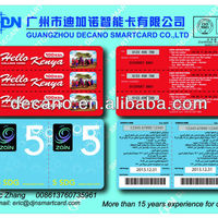 Paper Scratch Prepaid Card With Multi