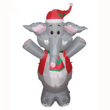high quality oxford cloth material ground inflatable elephant image for Christmas decoration