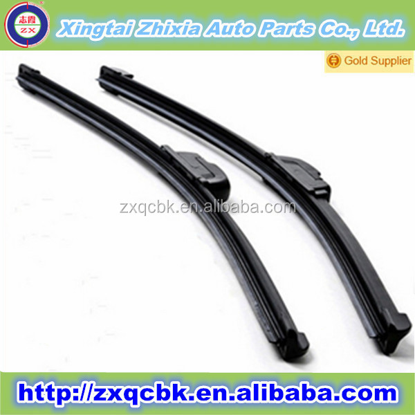2015 China ZX hot sale auto wiper blade/Wholesale universal frameless wiper blade/Rear windscreen auto wiper blade