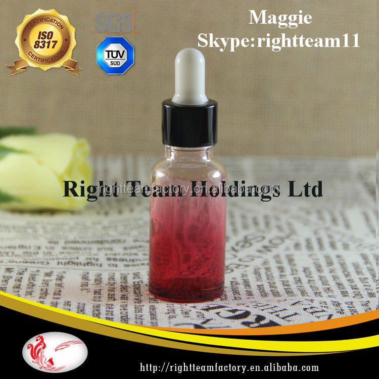 15 ml bottles red glass dropper bottle aluminium black cap
