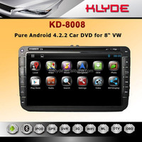 "Shock price 4.2.2 android car dvd Capacitive multi touch screen nandflash 16GB for 8"" golf 4/5/6"