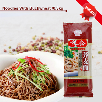 Dry Noodles 300g Soba Buckwheat Noodles 2mm Xiang Nian Noodles
