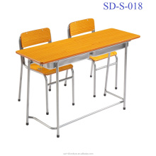 SD-S-018 Combo Double Classroom Furniture School Desk And Chair Design Modern For Sale
