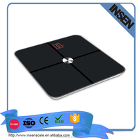 180kg Personal Bathroom Led Display Wireless Electronic Platform Digital Weighing Bluetooth Body Scale