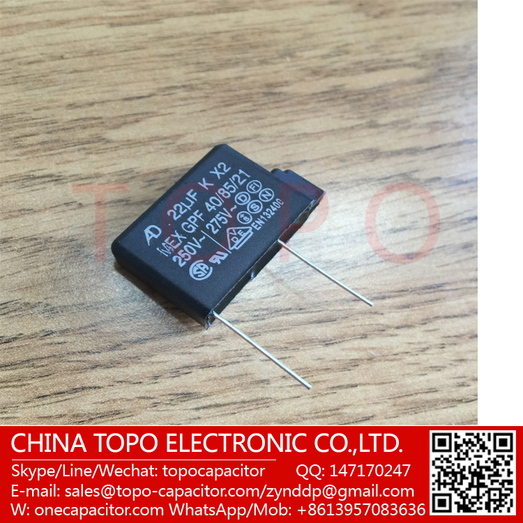 Free samples !! X2 MKP capacitor 4.7NF 275V P10MM,Widely used in power supply