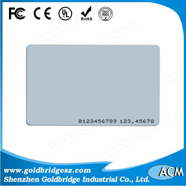 China alibaba Bar Code Printed 2in 1 Scratch Rfid 125khz Proximity Access Application Card