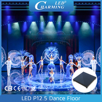 Acrylic/tempered glass interactive video led stage floor lights decorative for club and wedding party