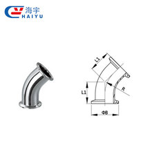 Good quality 45 degree clamped elbow pipe bend fittings