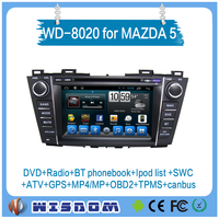Factory price 2 din car dvd gps for mazda 5 with car multimedia entertainment audio mp3 usb player support bluetooth wifi 3g CE