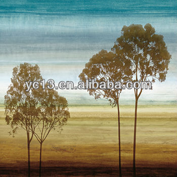 impression tree abstract hand painted canvas oil painting