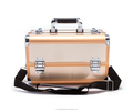 2018 fashion poetfolio case , Gold color fading case new deluxe cosmetic case