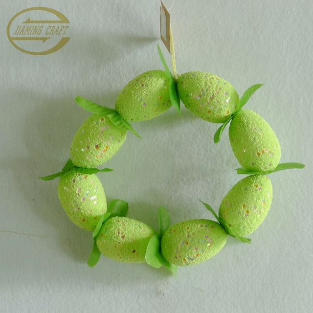 Wholesale painting foam egg Easter wreath for Easter decoration