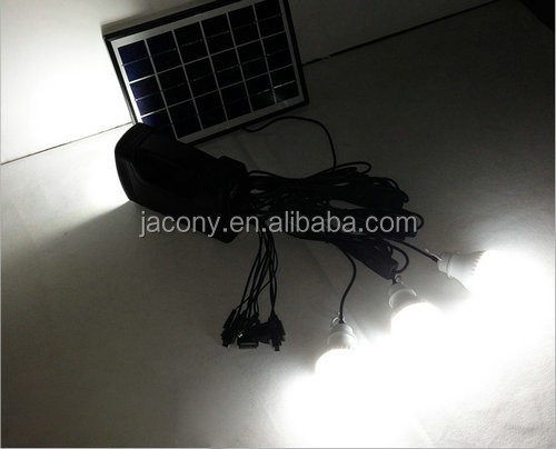 3W solar indoor light system for home (JL-4511)