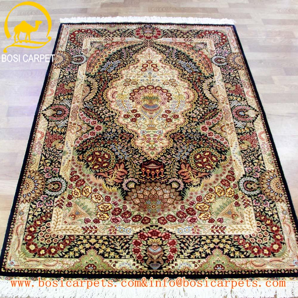 Wholesale silk isfahan carpet online buy best silk for Best selling rugs