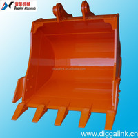 Equip Pins, Teeth and Side Cutter Excavator Rock Bucket