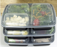 3 Compartment Meal Prep Containers BPA Free Portion Control Bento Boxes (39 Oz.)
