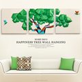 Resin craft wall hanging originality trees home wall decoration