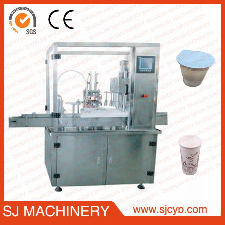 OEM Plastic cups filler and sealer machinery with shanjin company