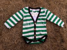 2015 new baby boy cotton stripe rompers