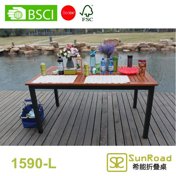 1.2m Aluminum folding outdoor table with four folding stools