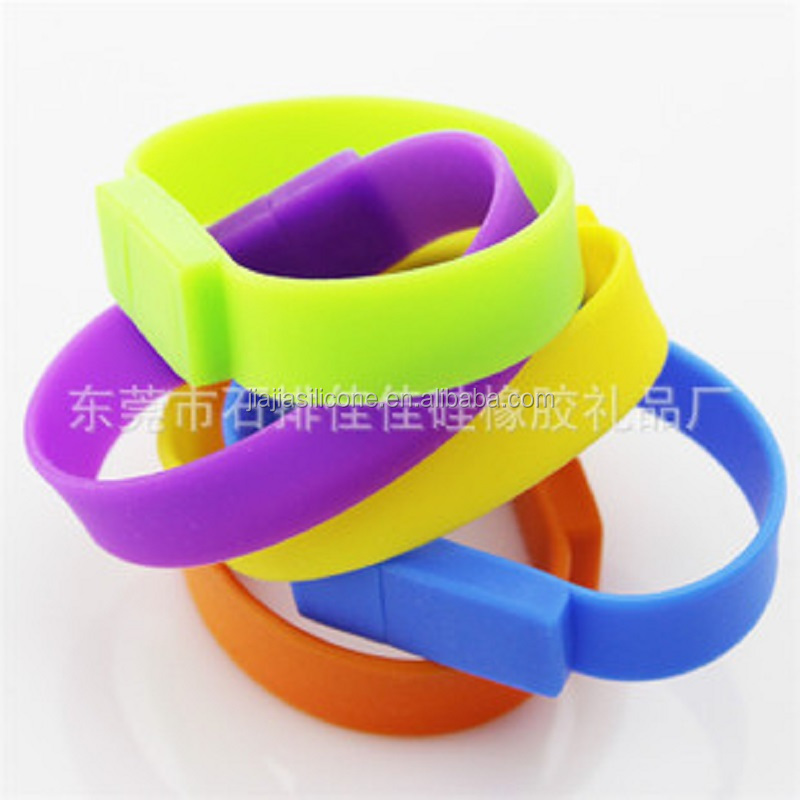 Custom high quality silicone USB Bracelet /Wristband USB