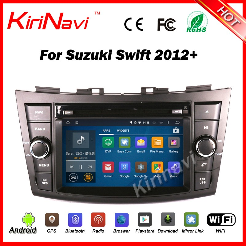 Kirinavi WC-SS7669 android 5.1 car multimedia for suzuki swift 2012 + car dvd gps navigation system radio wifi 3g