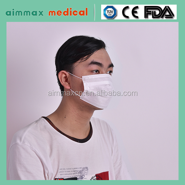 high quality outdoor medical protective disposable non woven 2/3/4 ply dust mask face mask